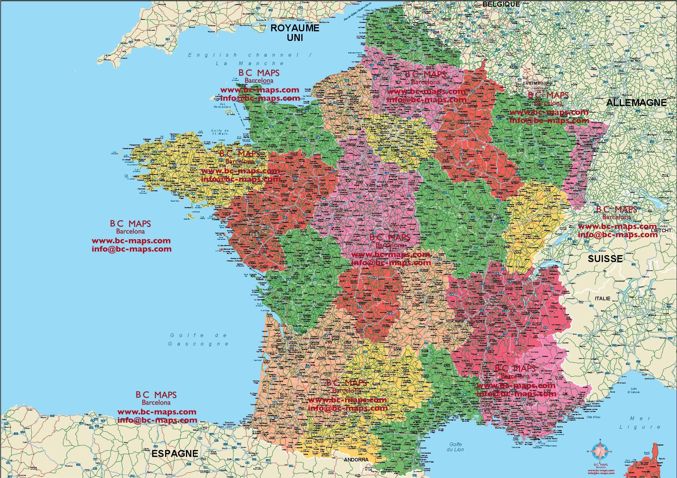 Francia Mapa Vectorial Editable Eps Freehand Illustrator Mapas